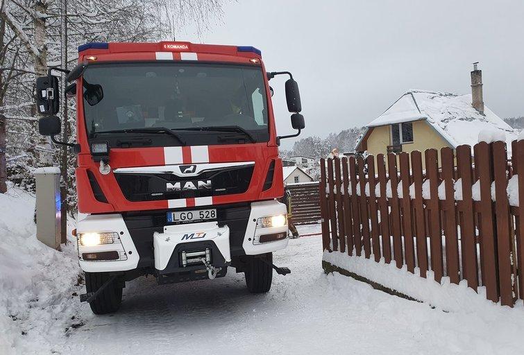 Ugniagesiai gelbėtojai (nuotr. Broniaus Jablonsko)