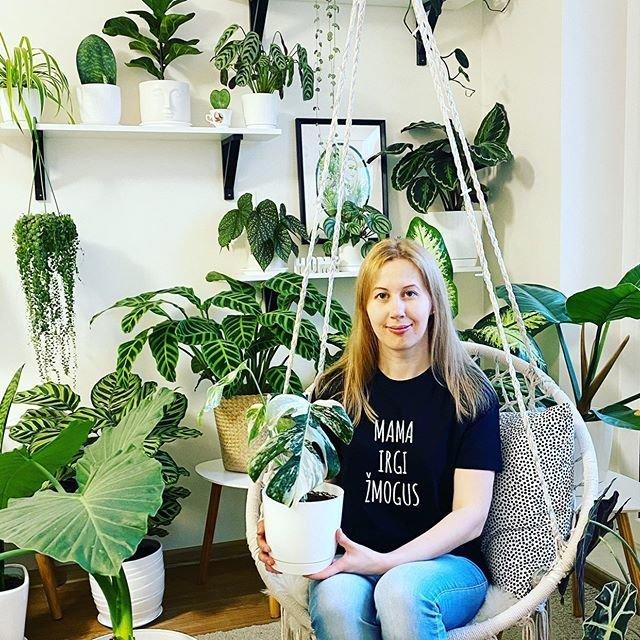Jurgita augina 80 įvairių augalų