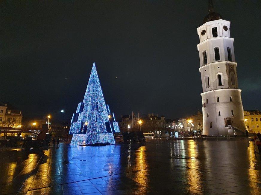 Užfiksavo, kaip galės atrodyti Vilniaus eglutė