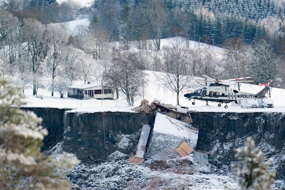 Tragedija Norvegijoje: nuošliauža nubloškė namus iki 400 metrų, ieškoma gyvų dingusiųjų