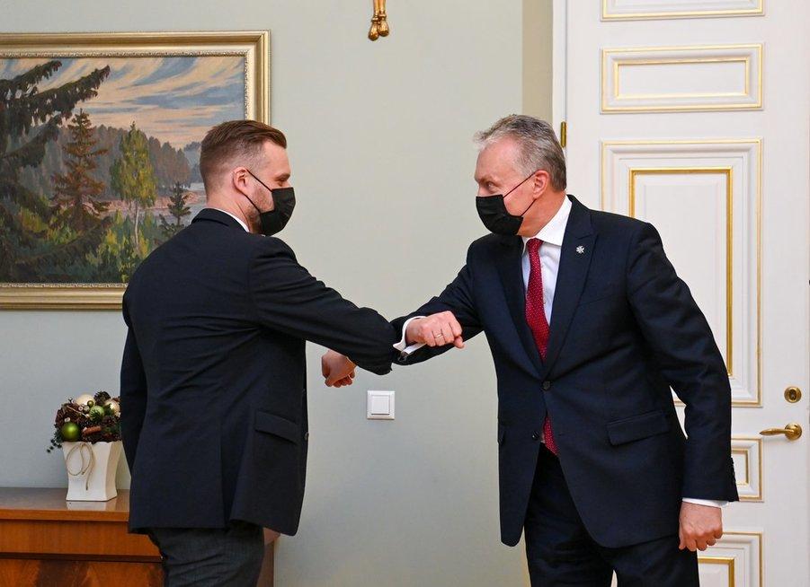 Gabrielius Landsbergis ir Gitanas Nausėda