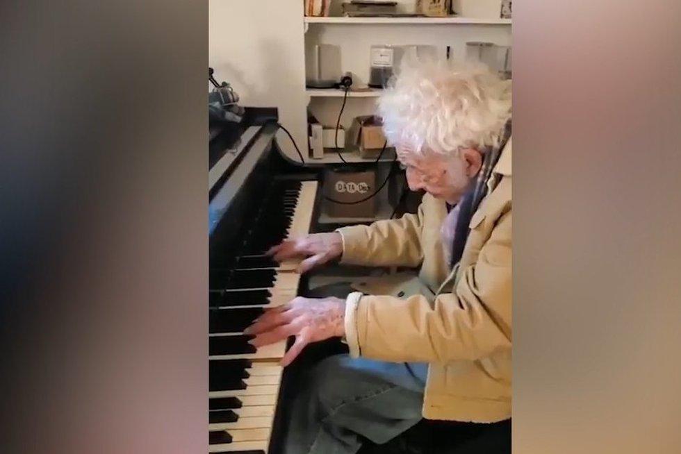 94 metų kompozitorius pradžiugino dukterį: gimtadieno proga skyrė jautrų kūrinį