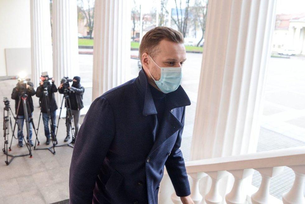 G. Landsbergis lankėsi pas prezidento patarėjus (nuotr. Fotodiena/Justino Auškelio)