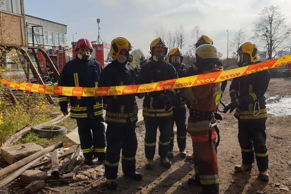 Alytaus ugniagesiai spalio 24 d.  (nuotr. Raimundo Maslausko)