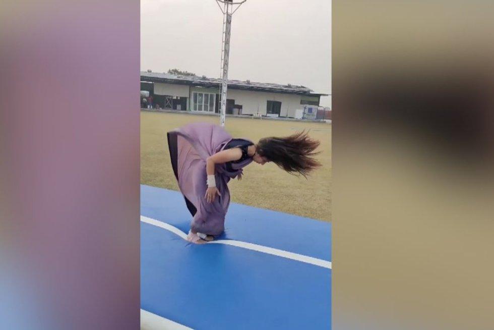 Gimnastė (nuotr. stop kadras)