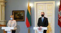 G. Nausėda ir I. Šimonytė (nuotr. Roberto Dačkaus)