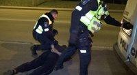 Girto vairuotojo akibrokštas: neįžvelgė kaltės ir šokdino pareigūnus