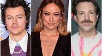 Harry Styles, Olivia Wilde, Jason Sudeikis (nuotr. SCANPIX)