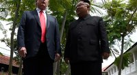 Donaldas Trumpas ir Kim Jong Unas (nuotr. SCANPIX)