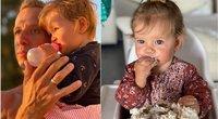 Linas Adomaitis su dukrele Saule (tv3.lt fotomontažas)