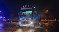 Elektrėnų savivaldybėje sunkvežimis mirtinai sužalojo pėsčiąją (nuotr. Bronius Jablonskas/TV3)