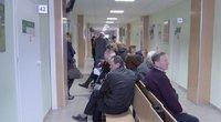 eilės prie kabineto pas gydytoją (nuotr. stop kadras)