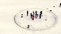 Ledo karuselė Raseinių rajone  (nuotr. stop kadras)