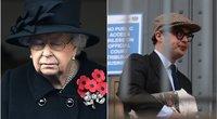Karalienė Elizabeth II ir Simon Bowes-Lyon (nuotr. SCANPIX) tv3.lt fotomontažas