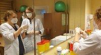 Vakcinacija Marijampolės ligoninėje. (nuotr. stop kadras)