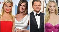 Cameron Diaz, Jennifer Aniston, Leonardo DiCaprio, Sophie Turner (nuotr. SCANPIX) tv3.lt fotomontažas