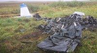 Prie Tauragės nukrito ir užsidegė lėktuvas (nuotr. Rolando Žalgevičiaus) (nuotr. TV3)