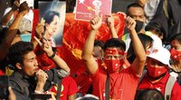 Protestas prie Mianmaro ambasados Bankoke (nuotr. SCANPIX)