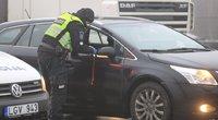 Policijos postas Avižieniuose: tikrinami į Vilnių įvažiuojantys vairuotojai ir keleiviai (nuotr. Broniaus Jablonsko)