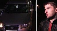 Apsivogęs bėglys apgadino automobilius (nuotr. stop kadras)
