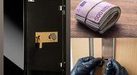 Ilgapirščiai taikosi į seifuose žmonių saugomą turtą (nuotr. Organizatorių)