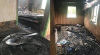 Bružų šeimos namai po gaisro (tv3.lt fotomontažas)