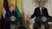 D. Grybauskaitė ir D. Trumpas (nuotr. SCANPIX)