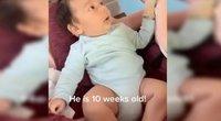 Dešimties savaičių sūnus nustebino mamą kaip reikiant  (nuotr. stop kadras)