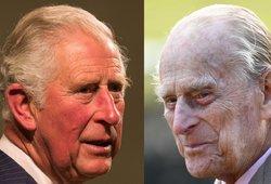 Princas Charlesas aplankė 99-erių tėvą Philipą ligoninėje: iš jos išvyko apsiašarojęs