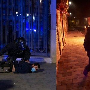Neramumai Ispanijoje: tūkstančiai žmonių išėjo į gatves protestuoti, viena moteris neteko akies