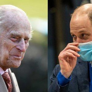 Princas Williamas – apie į ligoninę paguldytą 99-erių senelį Philipą: atskleidė, kaip jis jaučiasi