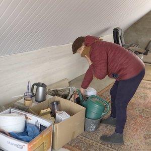 Kauniečiai ruošiasi potvyniui: daiktus neša į palėpes ir vis žvalgosi į kylančią upę