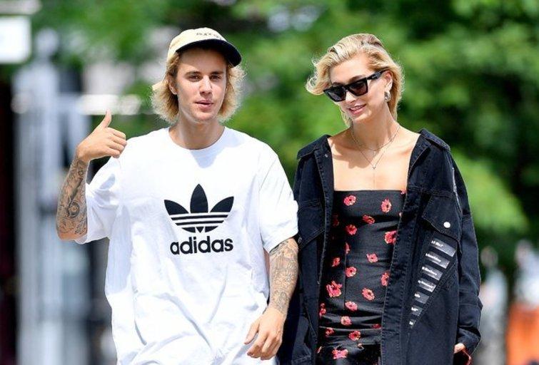 Justinas Bieberis ir Hailey Baldwin (nuotr. Vida Press)