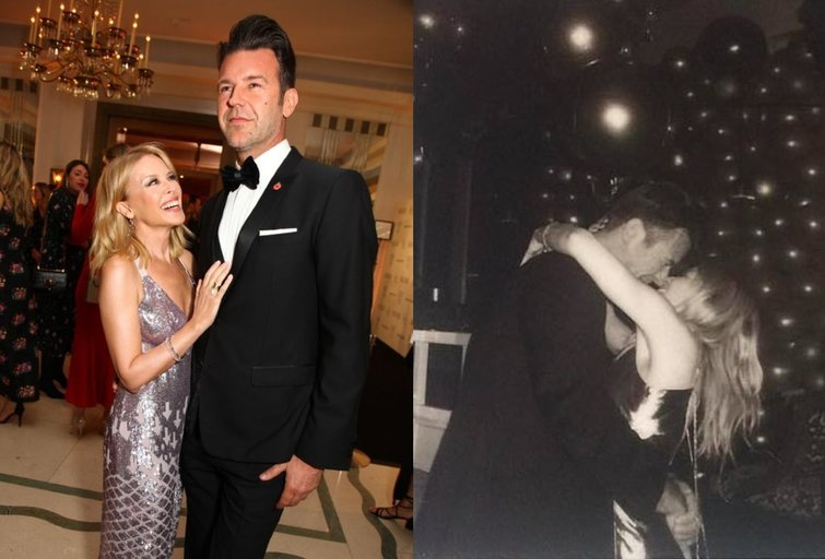 Kylie Minogue tiesiog žydi jaunesnio mylimojo glėbyje: meilę rasti galima ir 50-ties (tv3.lt fotomontažas)