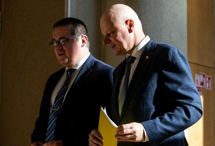Skirmantas Malinauskas ir Saulius Skvernelis  (Paulius Peleckis/Fotobankas)