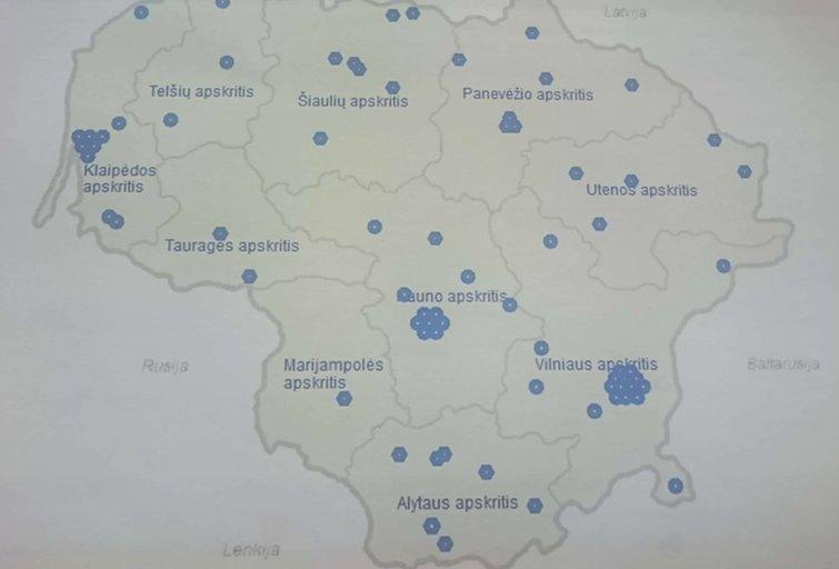 Profesinių mokymo įstaigų žemėlapis (ŠMM)