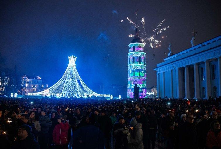 Lietuva pasitiko 2020-uosius metus (nuotr. Justinas Auškelis/Fotodiena)