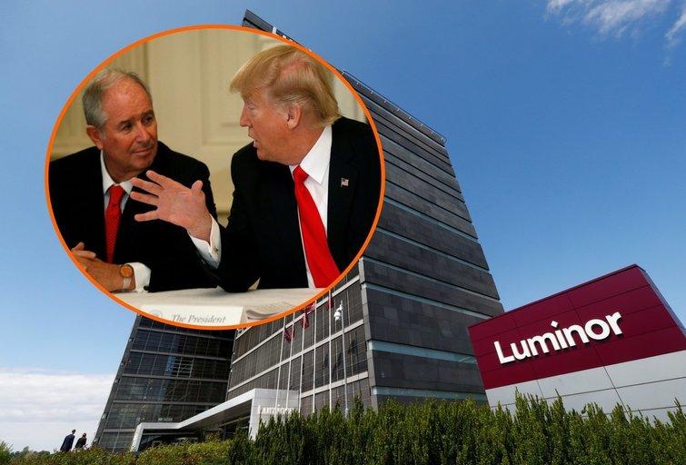 S. Schwarzmanas ir D. Trumpas (nuotr. SCANPIX) tv3.lt fotomontažas