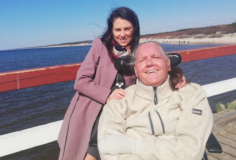 Tomas Viluckas su žmona Jolita tikina: nuo pačių neįgaliųjų priklauso, kaip juos priims aplinkiniai. Asmeninio archyvo nuotr.