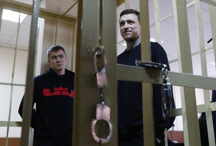 Rusijos futbolininkai siunčiami už grotų (nuotr. SCANPIX)