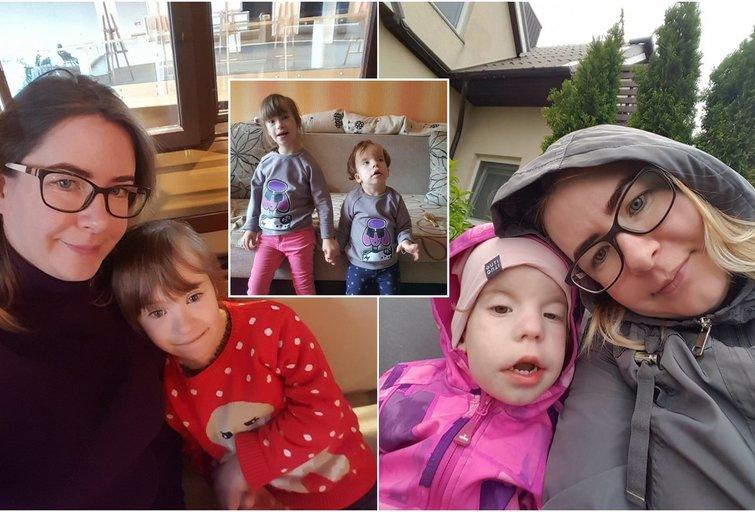Abi klaipėdietės A. Arlauskienės dukrelės kenčia klastingus sutrikimus  (nuotr. asm. archyvo)