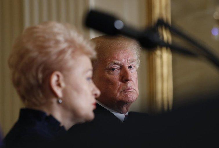 D. Grybauskaitė: D. Trumpas negrasino pasitraukti iš NATO (nuotr. SCANPIX)