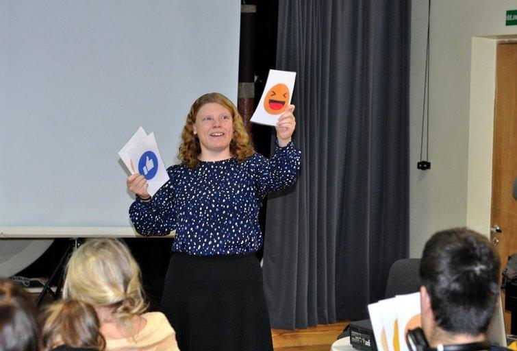 Projekto kuratorė iš Danijos Signė Sander. Nijolės Zenkevičiūtės nuotr.