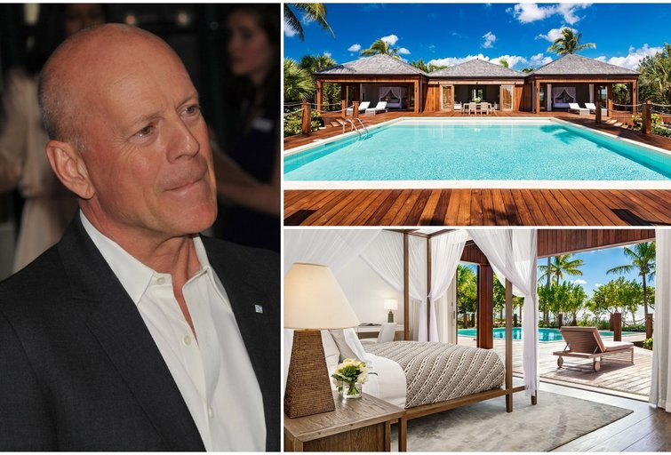 Bruce Willis namai Parrot Cay saloje (tv3.lt fotomontažas)