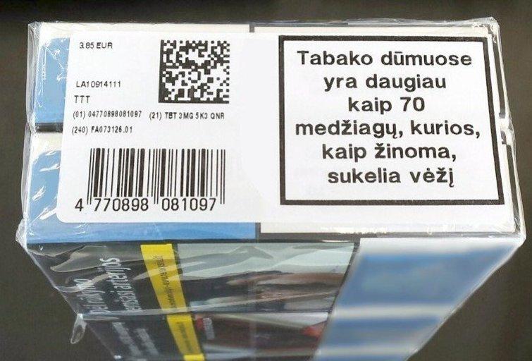 Cigarečių pakeliai (VMI nuotr.)