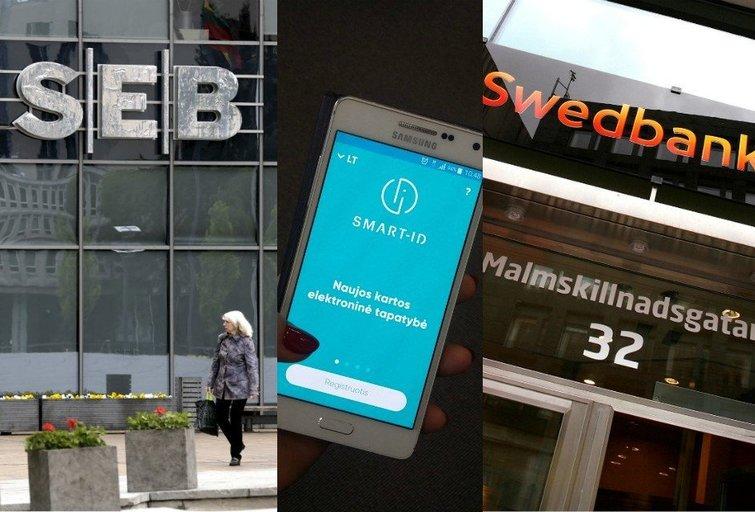 Swedbank ir SEB (tv3.lt fotomontažas)