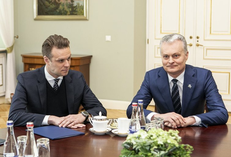 Gabrielius Landsbergis, Gitanas Nausėda (nuotr. Fotodiena.lt/Pauliaus Peleckio)