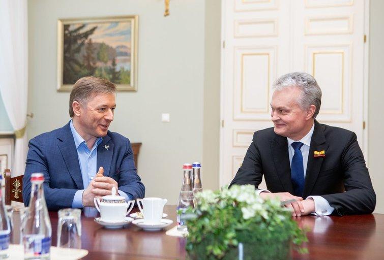 Ramūnas Karbauskis ir Gitanas Nausėda (Fotobankas)
