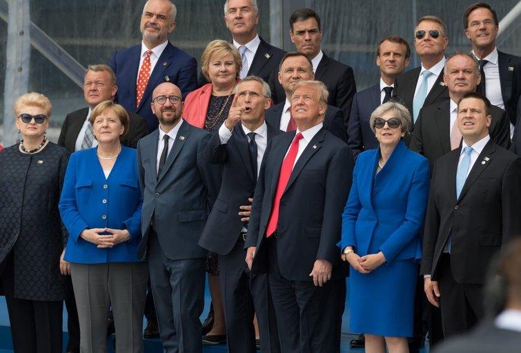 Donaldas Trumpas NATO viršūnių susitikime (nuotr. SCANPIX)