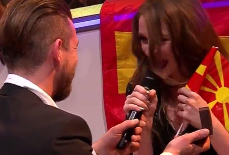 """To dar nebuvo: """"Eurovizijoje"""" pasipiršo nėščiai Makedonijos atstovei (nuotr. asmeninio albumo (""""Facebook"""")"""